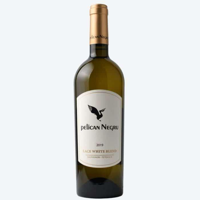 Pelican Negru Lace White Blend Feteasca Albă Sauvignon Blanc 2019