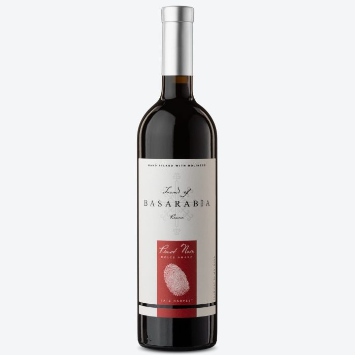 Land of Basarabia Late Harvest Dolce Amaro Pinot Noir 2019